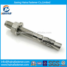 China supplier in stock wedge anchor stainless steel 316 concrete wedge anchor bolt